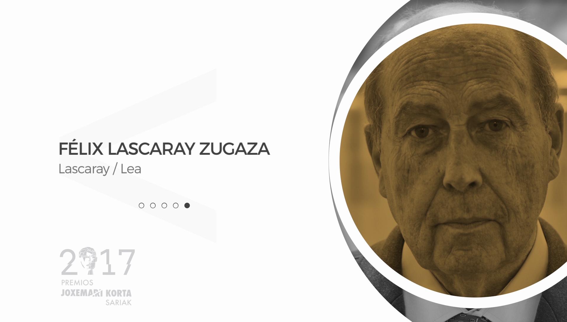 Felix Lascaray (LEA). Premios Korta Sariak 2017