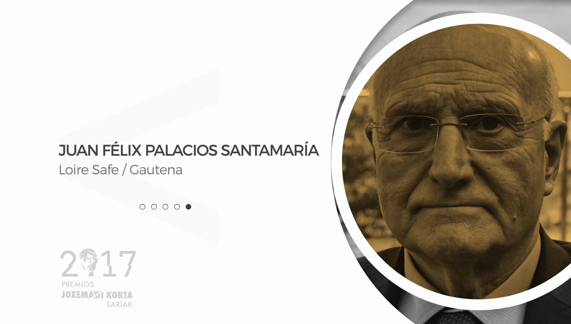 Juan Félix Palacios (Loire Gestam). Premios Korta Sariak 2017