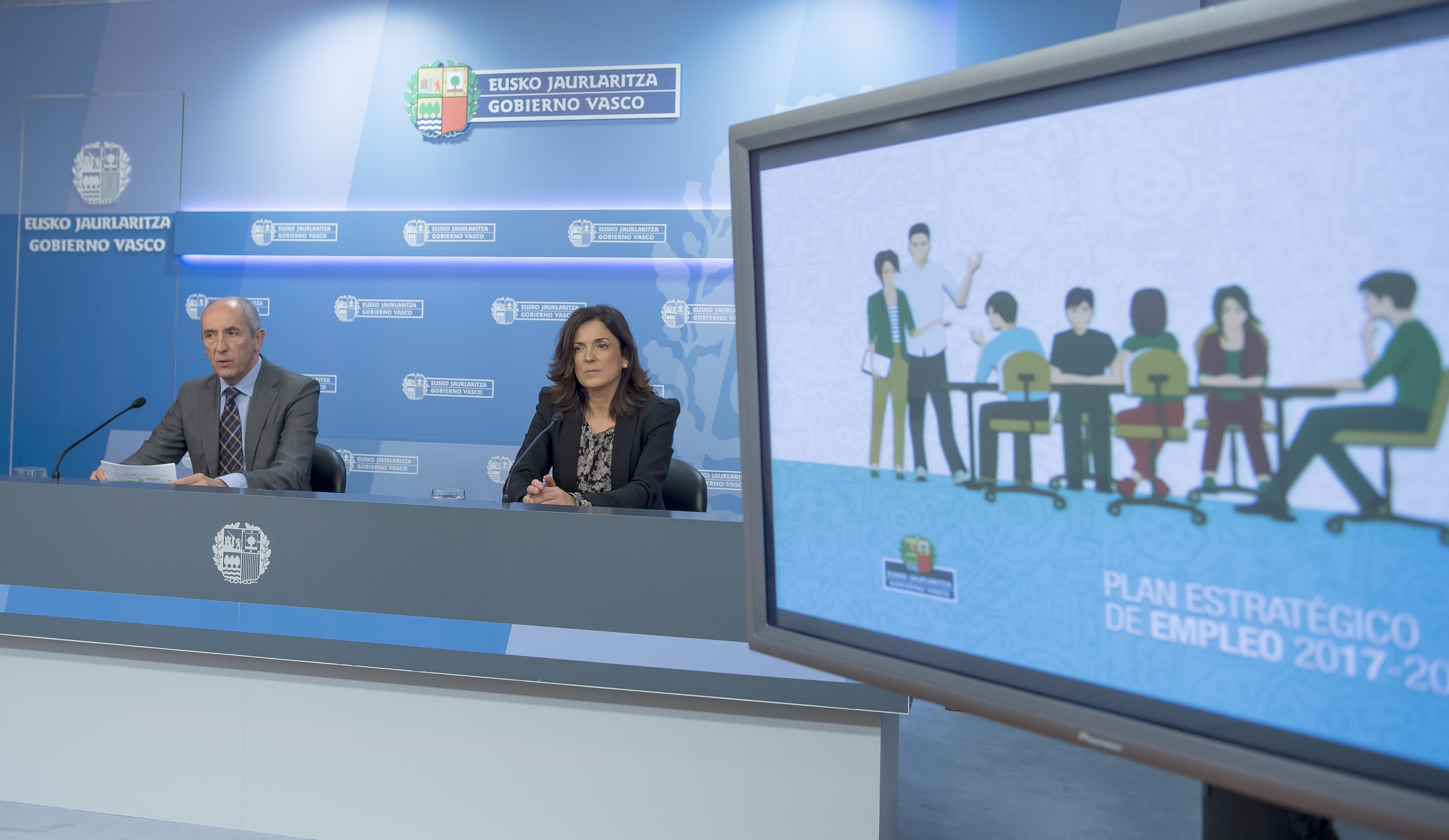 El Gobierno Vasco da el visto bueno al nuevo Plan Estratégico de Empleo 2017-2020