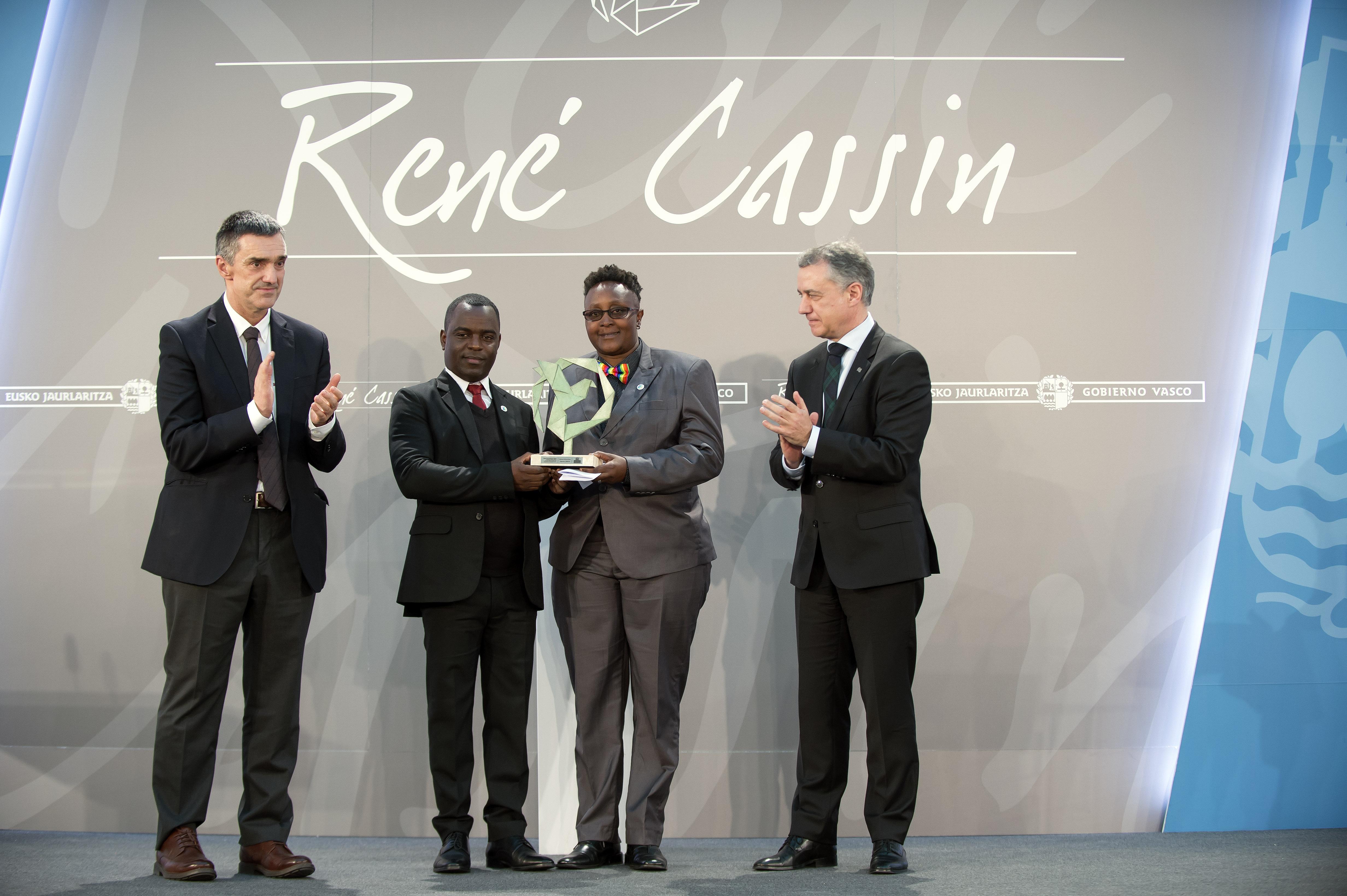 Sexual Minorities Uganda-ri eman dio Lehendakariak René Cassin 2017 saria