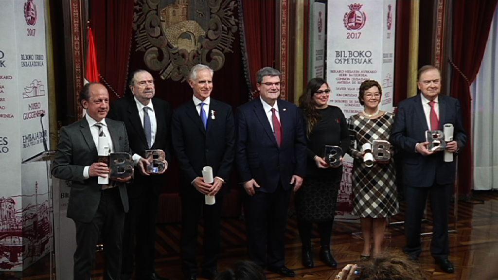 """El Gobierno Vasco asiste al acto de nombramiento de """"Ilustre de Bilbao 2017"""""""