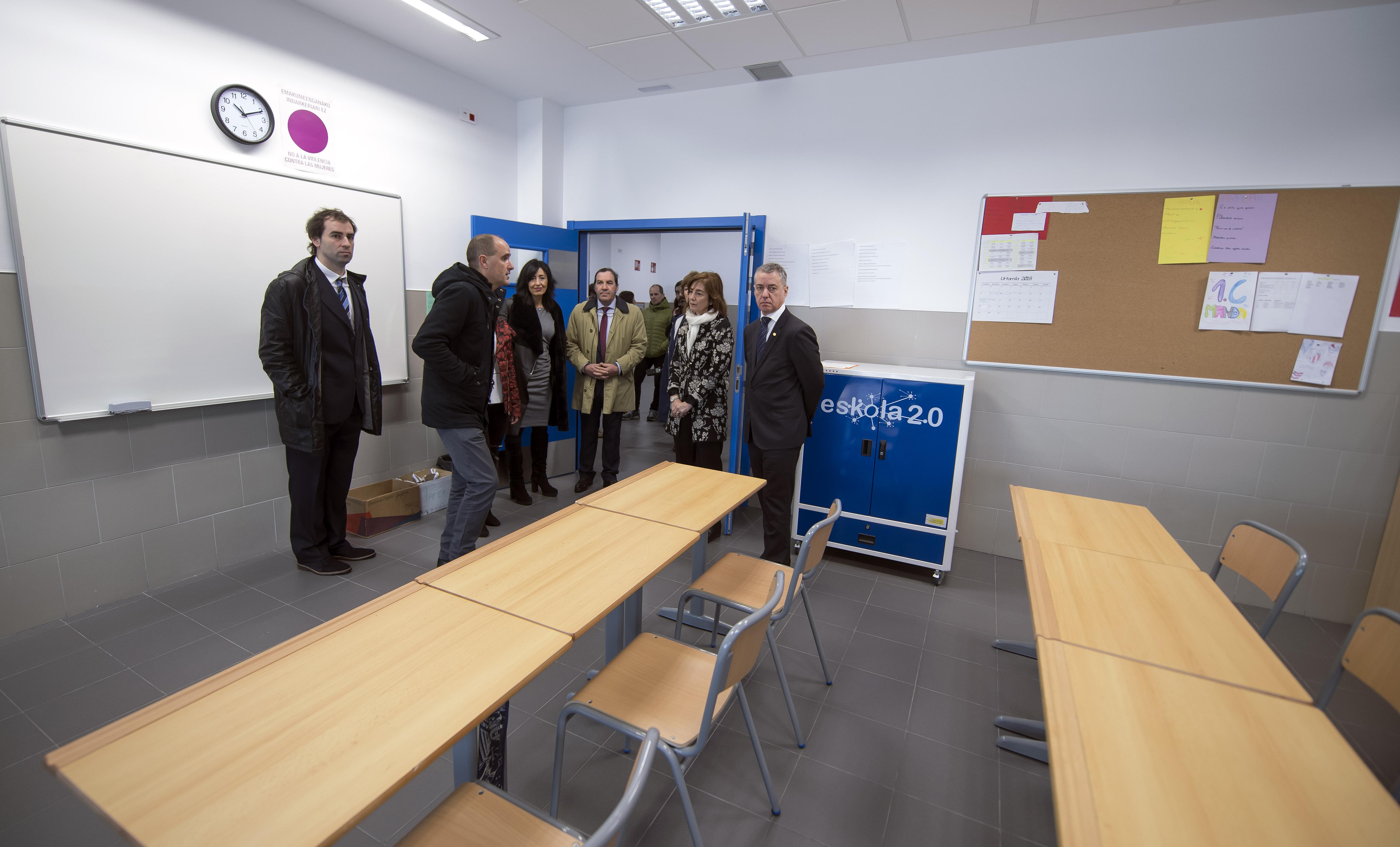 El Lehendakari visita el nuevo edificio de ESO en Ugao-Miraballes