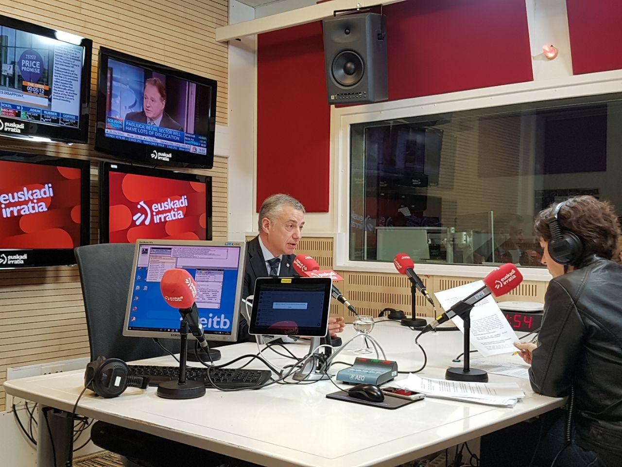 """Lehendakari: """"Deberíamos aprovechar este año para acordar unas bases que permitan profundizar en el Autogobierno vasco"""""""