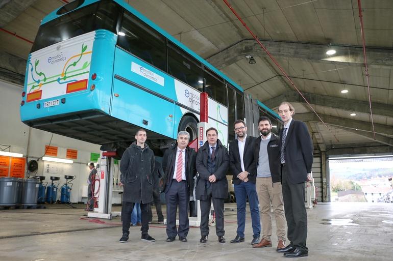 El primer KERS comercial para vehículos industriales se estrena en Gipuzkoa