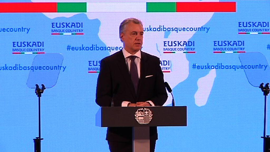 Lehendakariak deia egin dio gizarte osoari Euskadi Basque Country-ren proiekzioa munduan sendotzeko