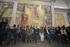 El Lehendakari acude a la inauguración del mural Pinturas para la Vida en la iglesia de Antezana