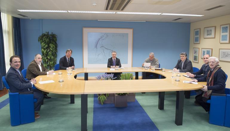 El Lehendakari ha recibido a responsables de la Unión de Federaciones Deportivas Vascas