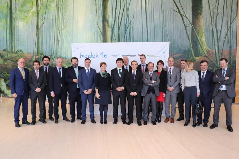 El Ente Vasco de la Energía, Iberdrola y la Diputación Foral de Bizkaia acuerdan seguir apostando por la digitalización de la red eléctrica con Bidelek 4.0.