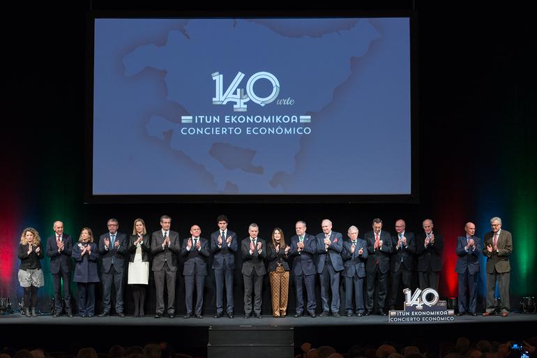El Lehendakari reafirma el compromiso de todas las instituciones vascas con el Concierto Económico en su 140 aniversario