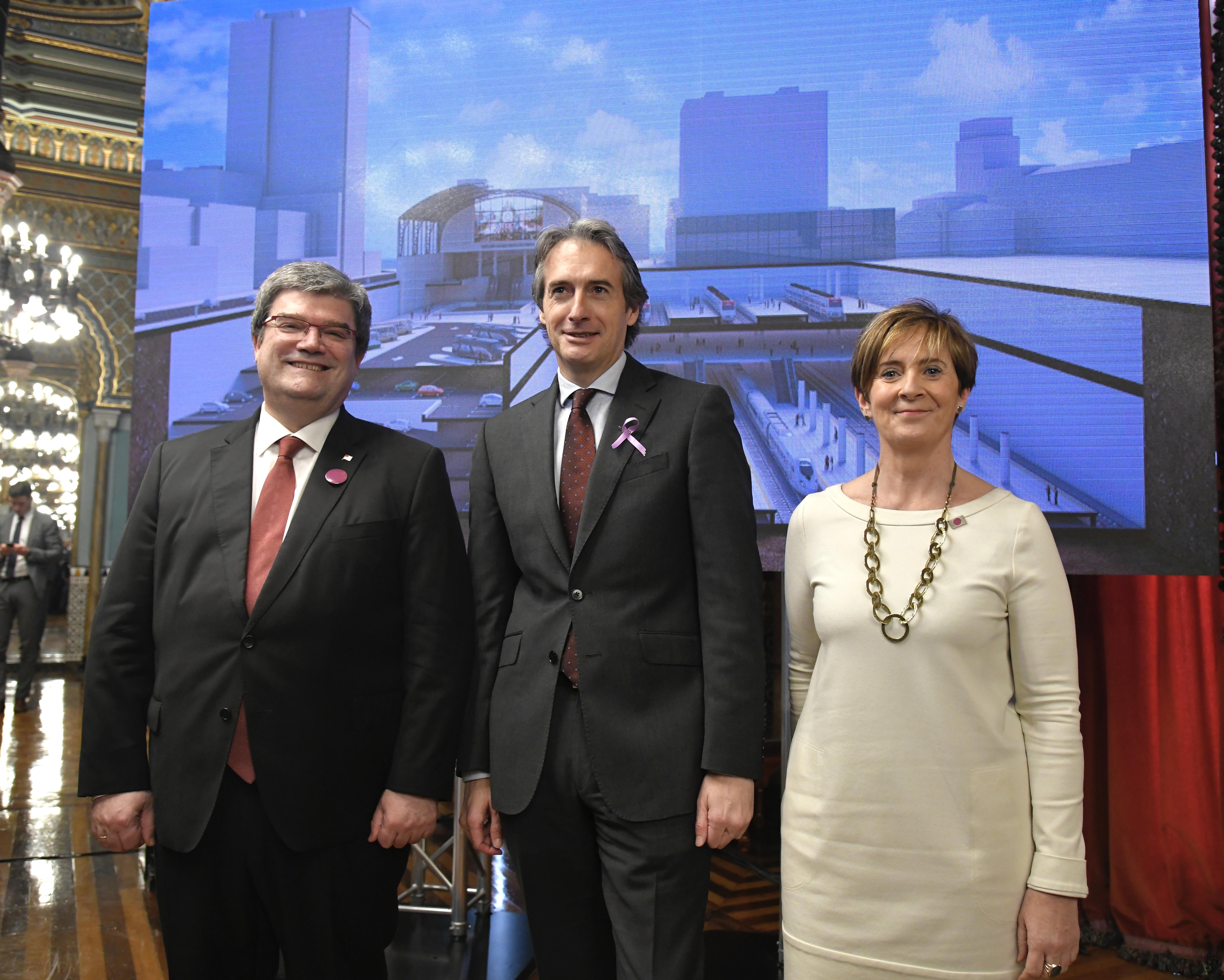 Gobierno Vasco, Ayuntamiento de Bilbao y Fomento cierran el proyecto de nueva estación del TAV de Abando