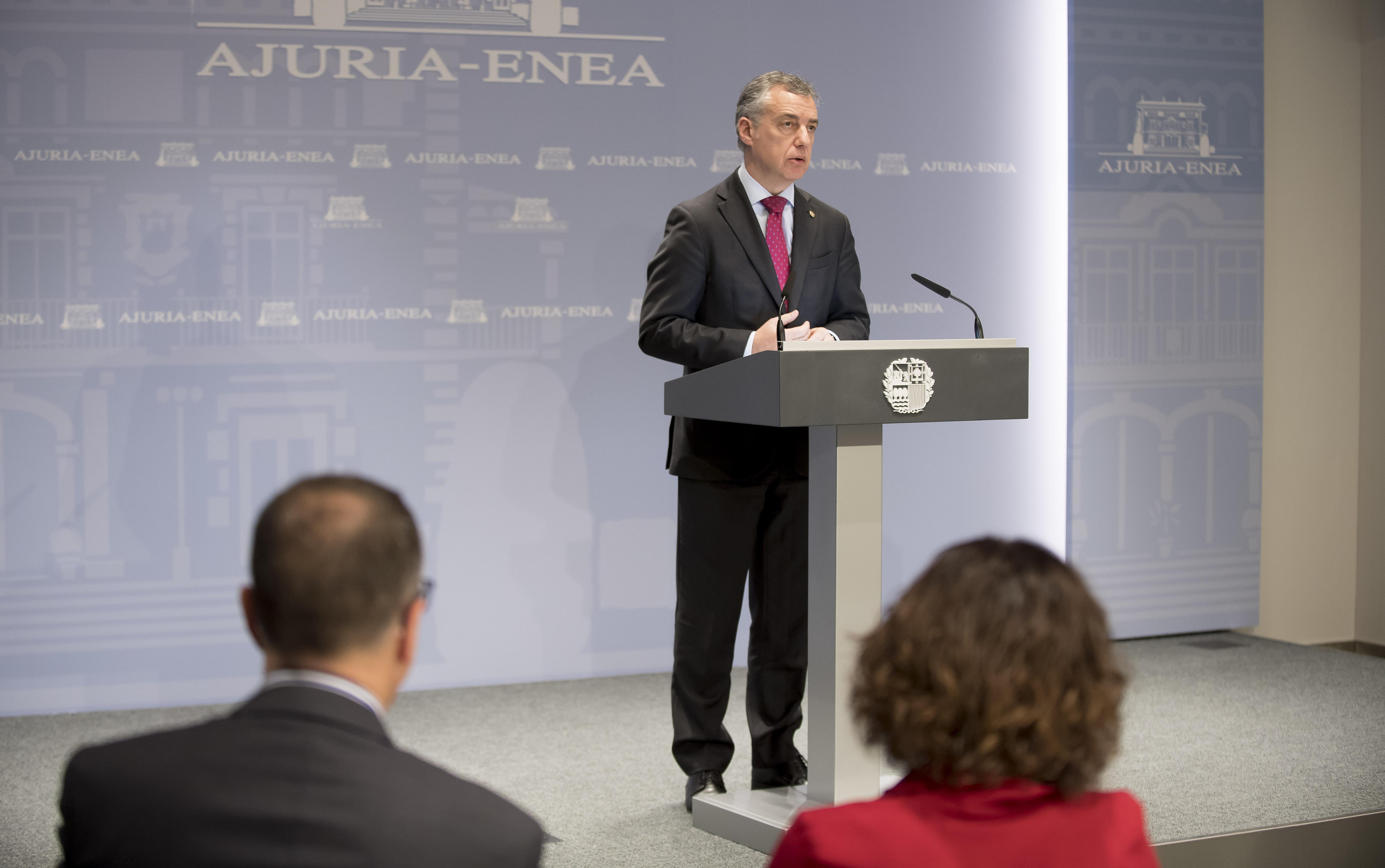 El Lehendakari presenta el documento que recoge la visión sobre el futuro de Europa