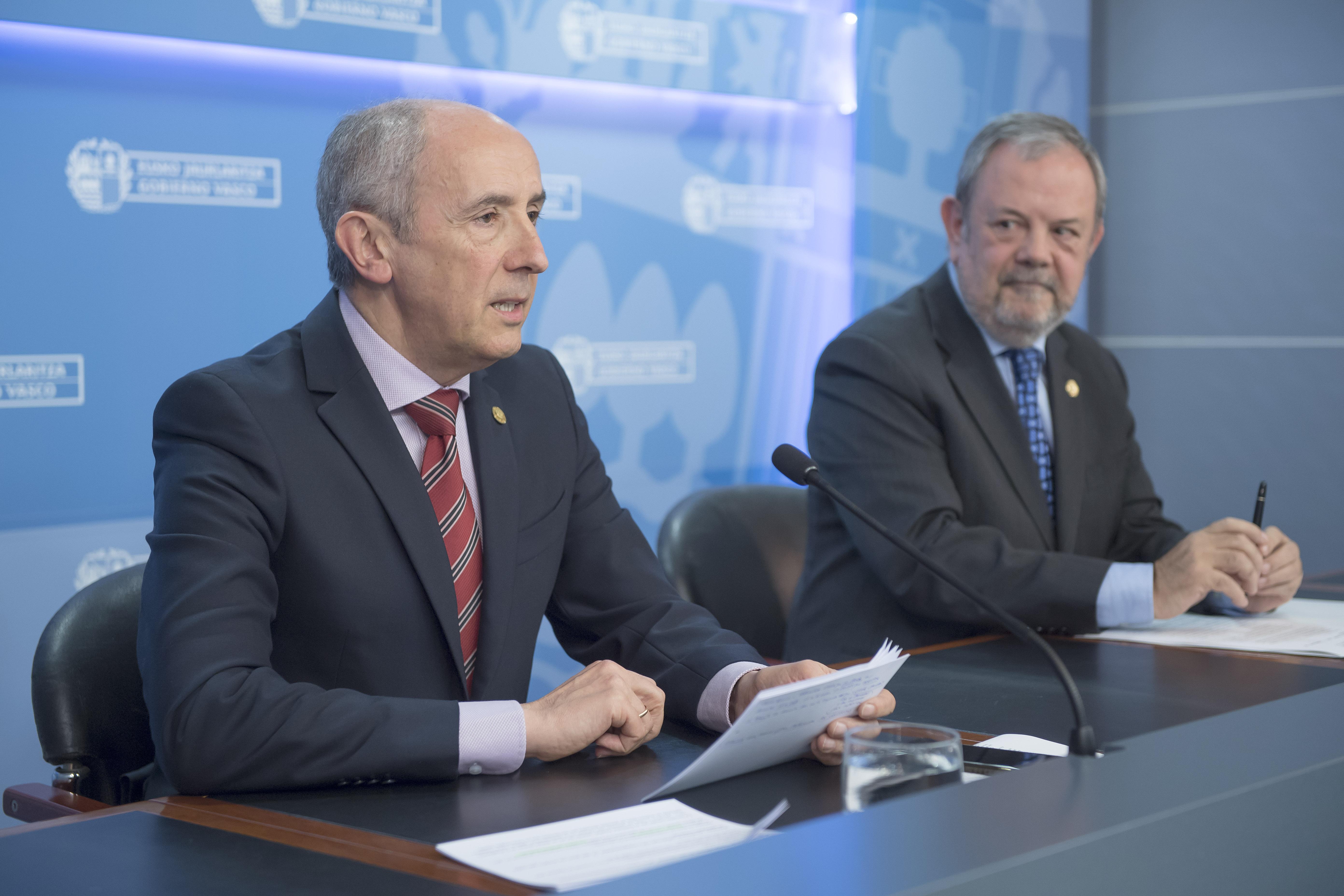"""El Gobierno Vasco expresa su más """"enérgica protesta institucional"""" ante la intención del Ejecutivo español de recurrir la Ley de Presupuestos de Euskadi de 2018"""