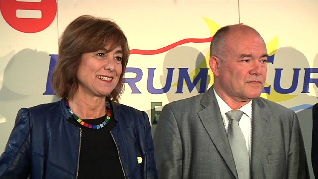 Cristina Uriarte ha intervenido en el desayuno informativo del Fórum Europa Tribuna Euskadi