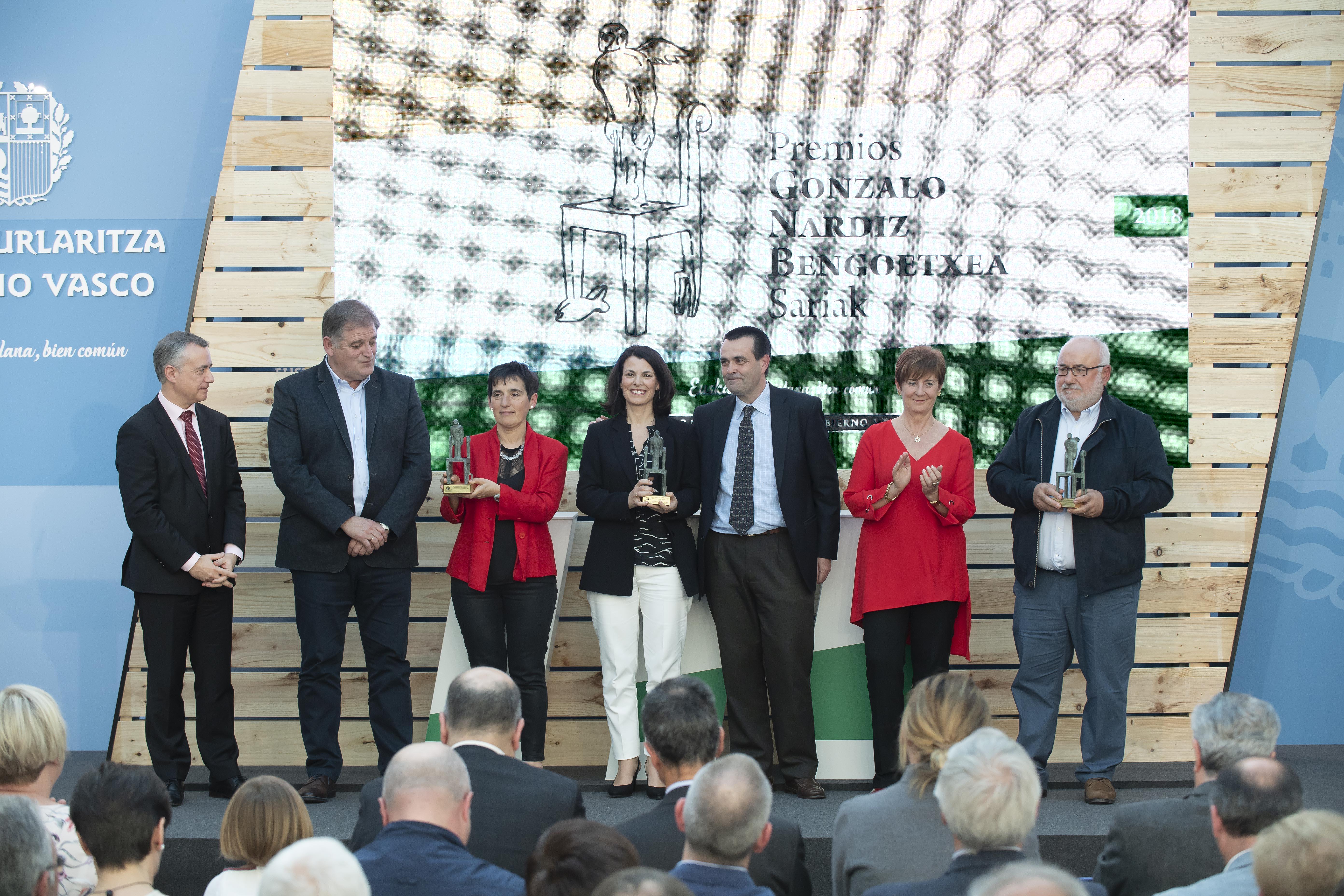 El Lehendakariha entregado los Premios Gonzalo Nardiz