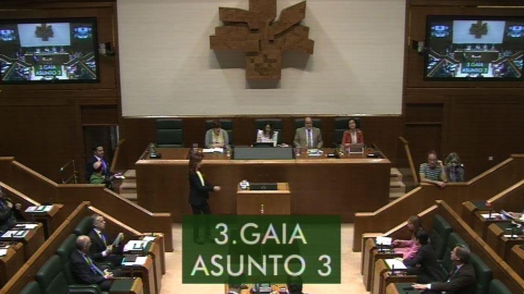 Lander Martinez pregunta al Lehendakari sobre Presupuestos Generales del Esatdo