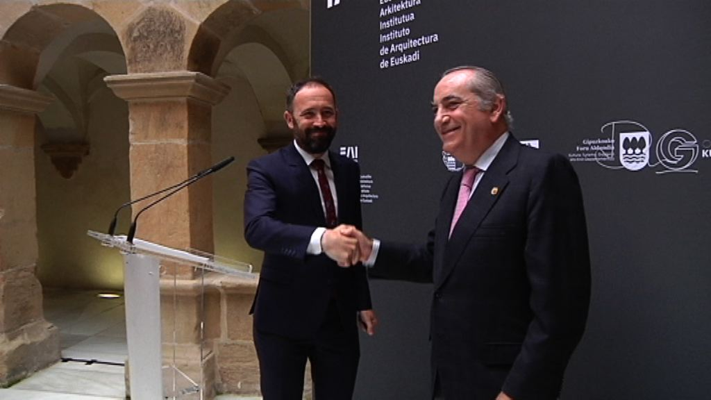 """Gobierno Vasco y Diputación de Gipuzkoa sellan el acuerdo para crear el Instituto de Arquitectura de Euskadi, """"un hito en la promoción de la cultura arquitectónica y patrimonial vasca"""""""