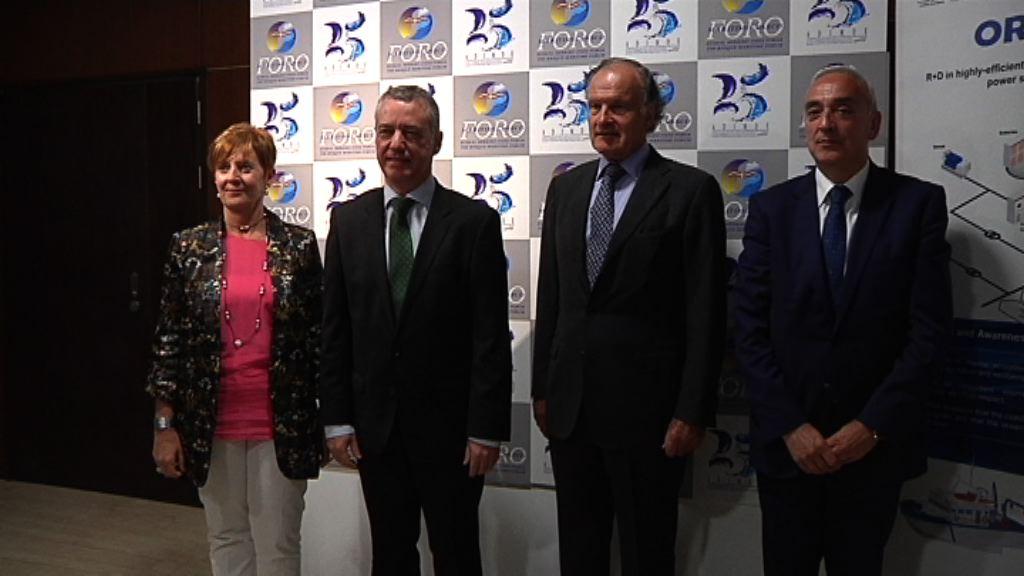 """El Lehendakari llama a """"remar juntos"""" por una industria marítima con futuro en Euskadi"""