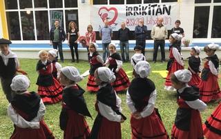 Cristina Uriartek Araba Euskaraz festaren irekiera ekitaldian parte hartu du, Argantzunen