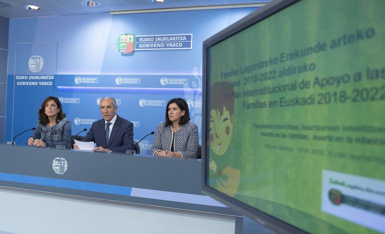 El Gobierno aprueba el IV Plan Interinstitucional de Apoyo a las Familias en la Comunidad Autónoma de Euskadi2018-2022 (Consejo de Gobierno 19-06-2018)