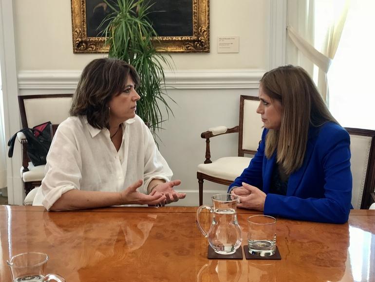 La Consejera Mª Jesús San José se reúne con la Ministra de Justicia, Dolores Delgado