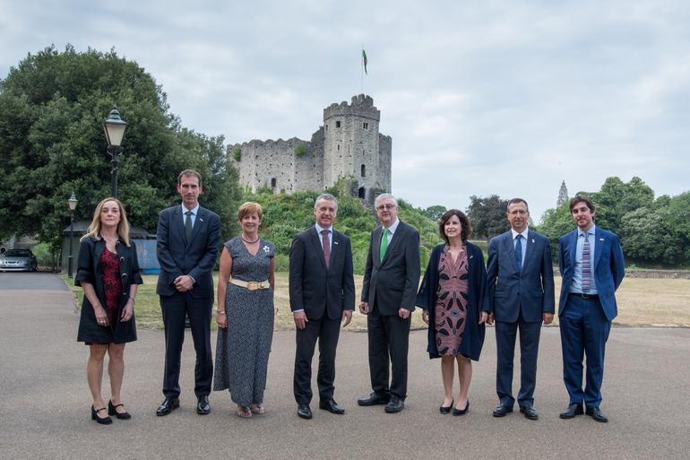 Recepción al Lehendakari en el Castillo milenario de Cardiff