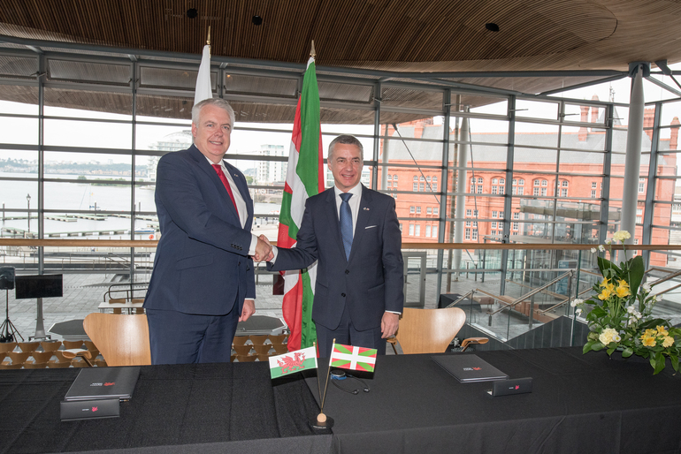 Wales joins the Basque Country's network of Strategic Partnerships alonside other prominent regions