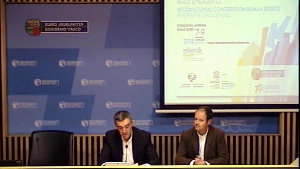 El Gobierno Vasco organiza un Congreso  Internacional centrado en los retos emergentes que  plantean los derechos humanos en el siglo XXI