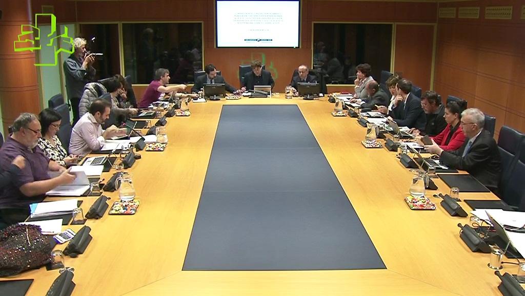 El Consejero Iñaki Arriola comparece ante la Comisión de Medio Ambiente, Planificación Territorial y Vivienda (05/11/2018)