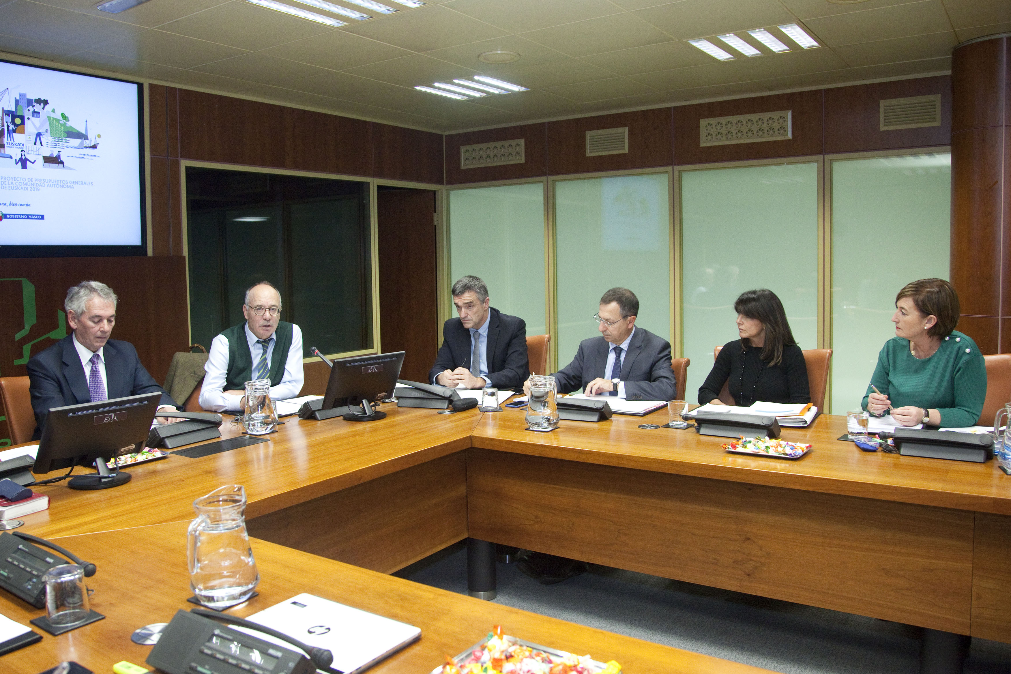 Lehendakaritza presenta en el Parlamento Vasco sus presupuestos para el año 2019