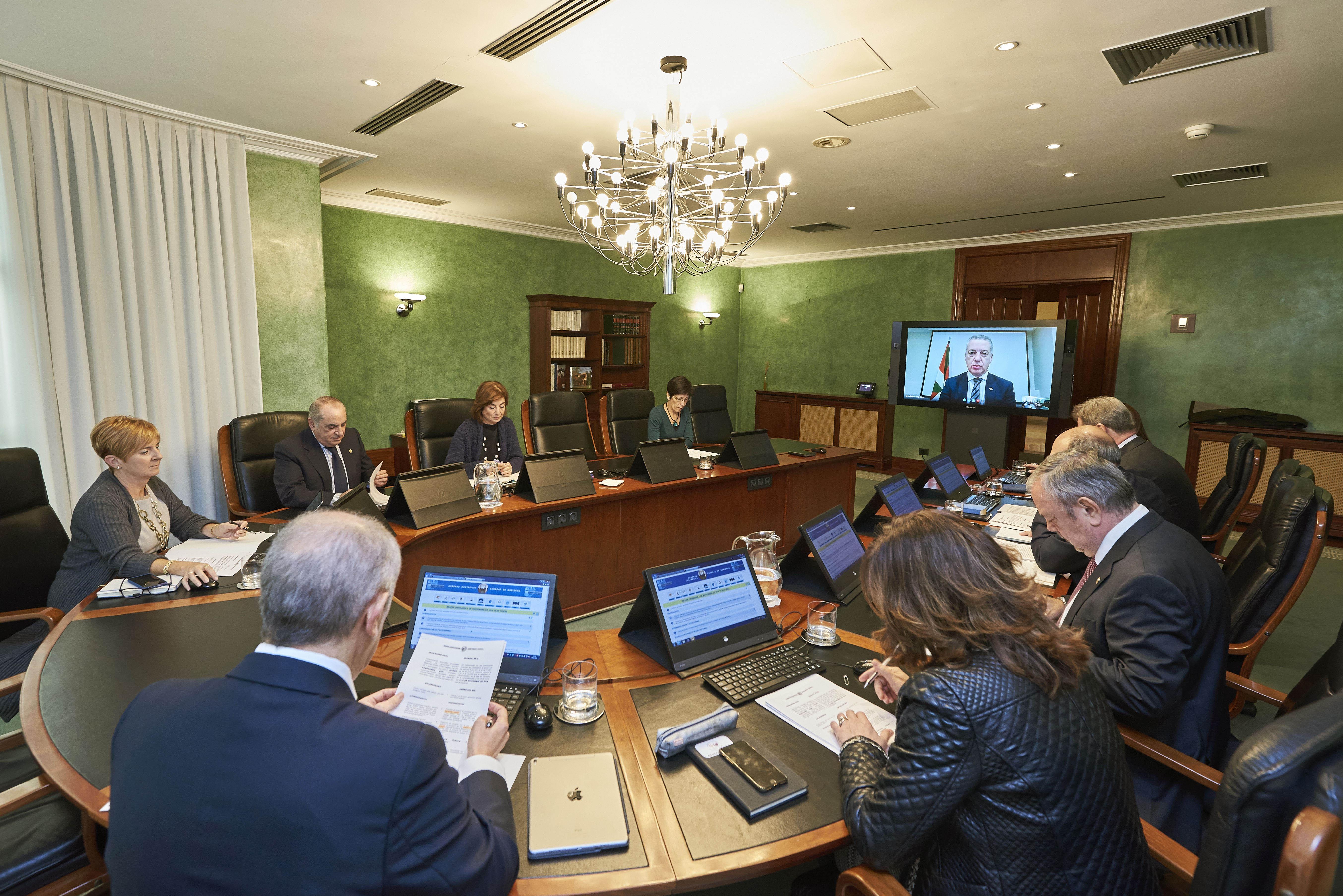 El Lehendakari preside desde Chile la reunión del Consejo de Gobierno