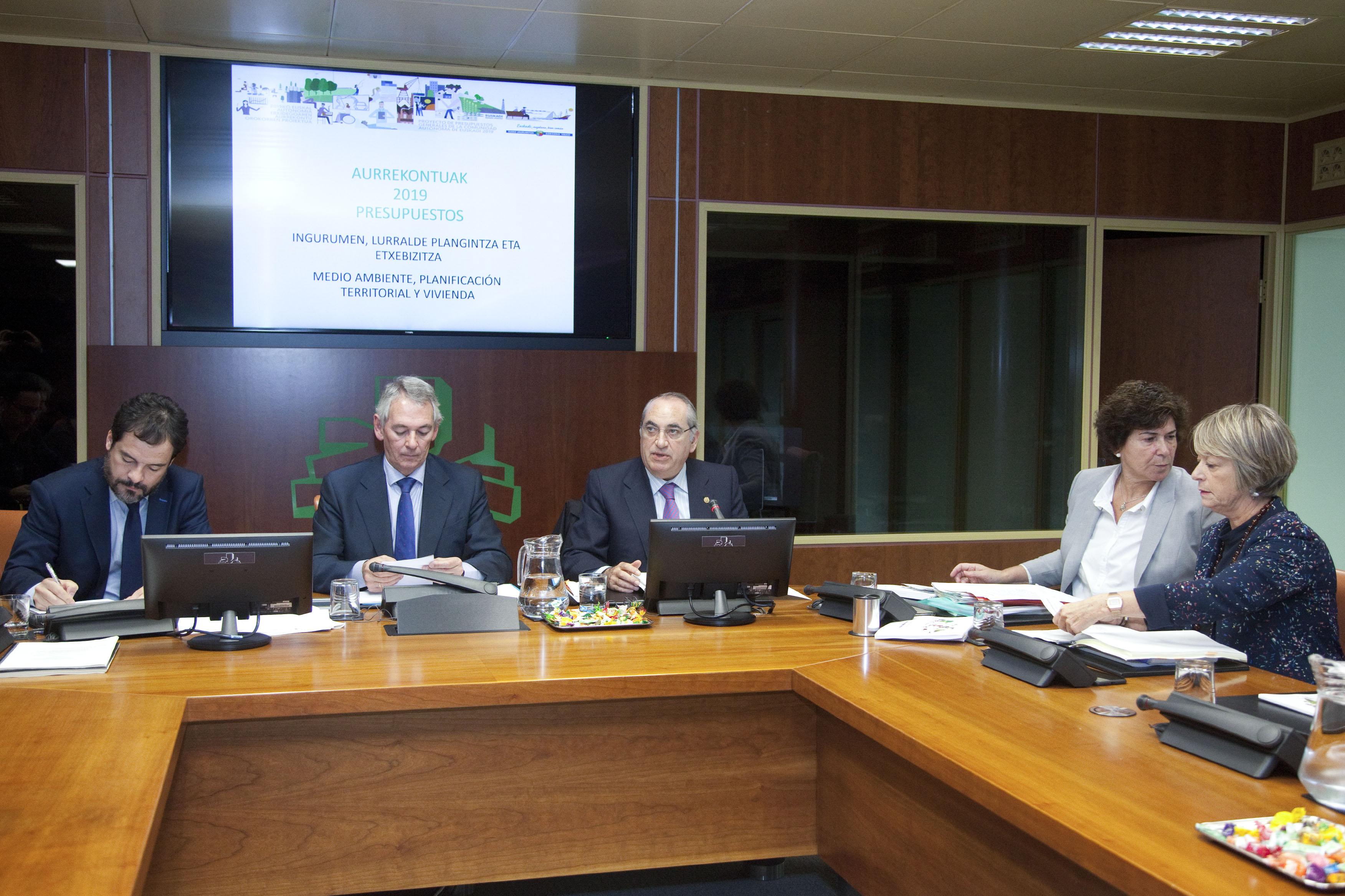 El presupuesto del Departamento de Medio Ambiente, Planificación Territorial y Vivienda se incrementa un 8,4% y cuenta este año con 223,3 millones de euros