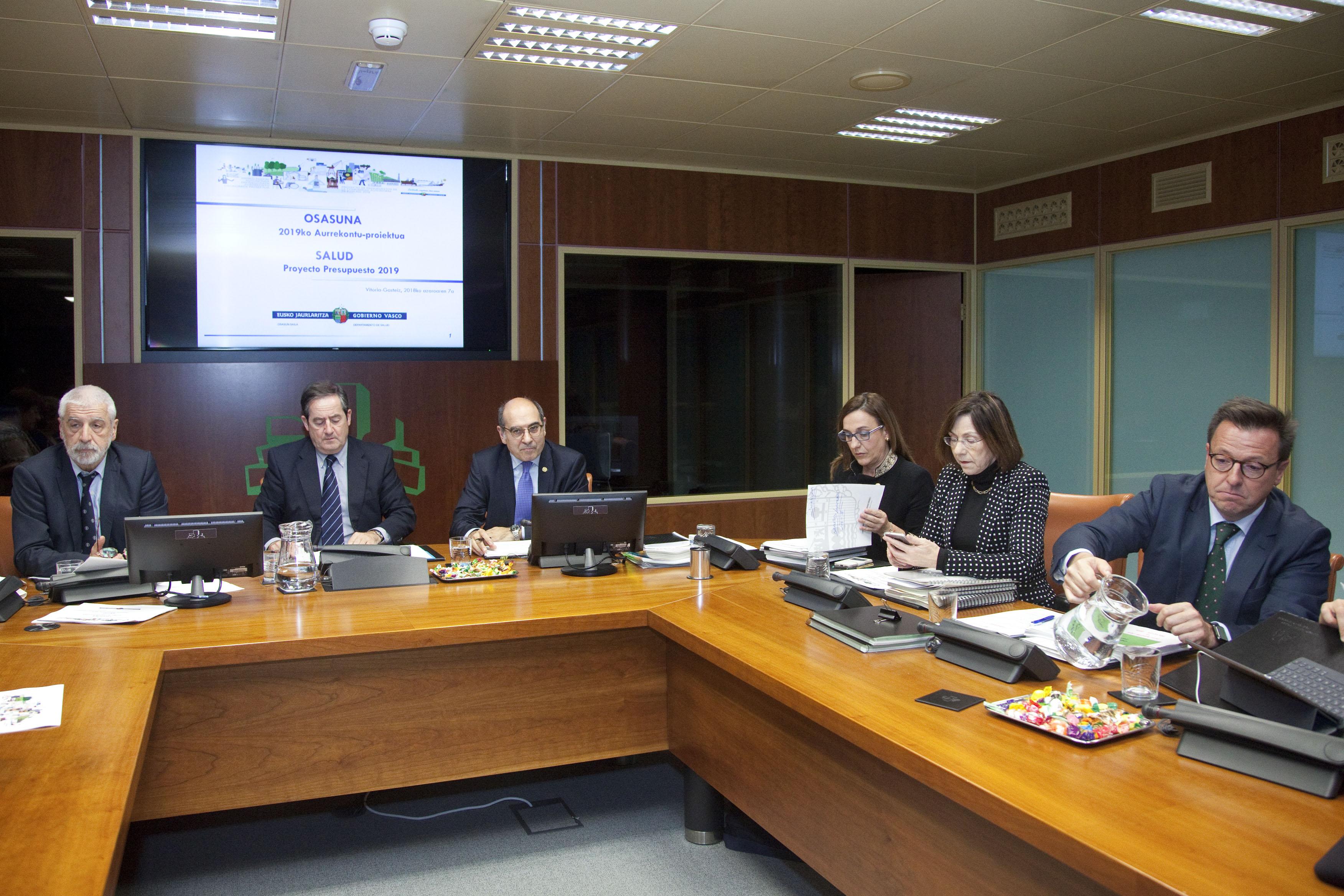 El Presupuesto del Departamento de Salud del Gobierno Vasco vuelve a aumentar en 2019 un 3,3% hasta alcanzar los 3.800 millones de euros