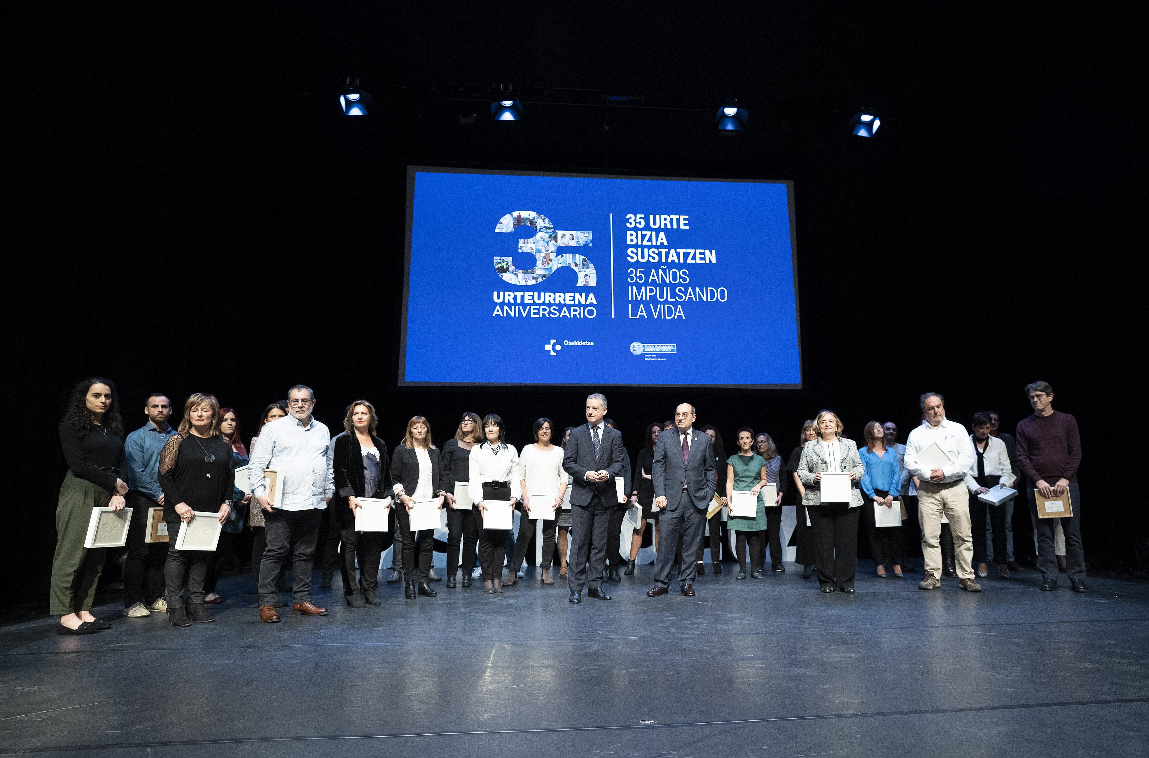 El Lehendakari reconoce que el Servicio Vasco de Salud es un logro del conjunto de la sociedad vasca