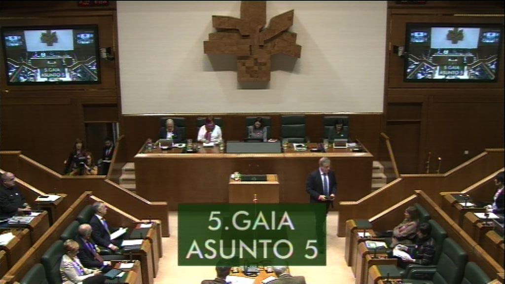 Galdera, Alfonso Alonso Aranegui Euskal Talde Popularreko legebiltzarkideak lehendakariari egina, legealdiaren balantzeari buruz