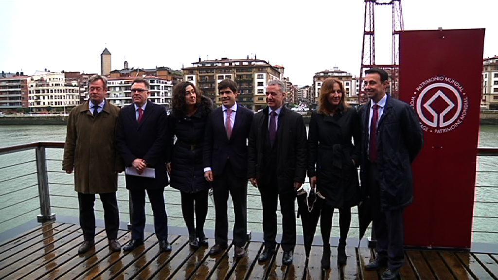 El Lehendakari Iñigo Urkullu ha presidido en Portugalete el acto de clausura del 125 aniversario del Puente Colgante
