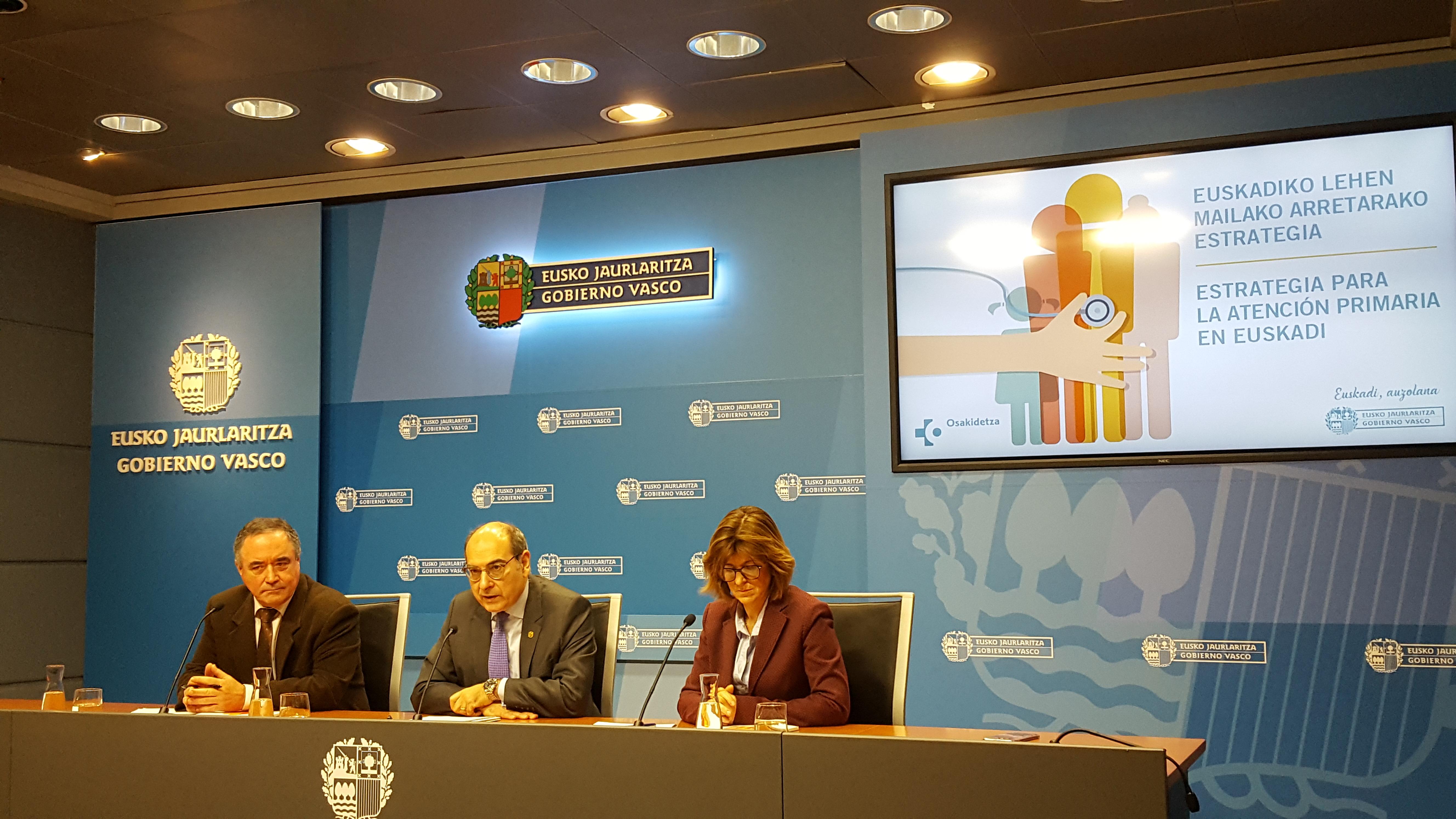 El Departamento de Salud propone una batería de medidas para reforzar la atención primaria en Euskadi