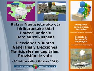 Previsión de voto: Elecciones a Juntas Generales y Elecciones Municipales en capitales