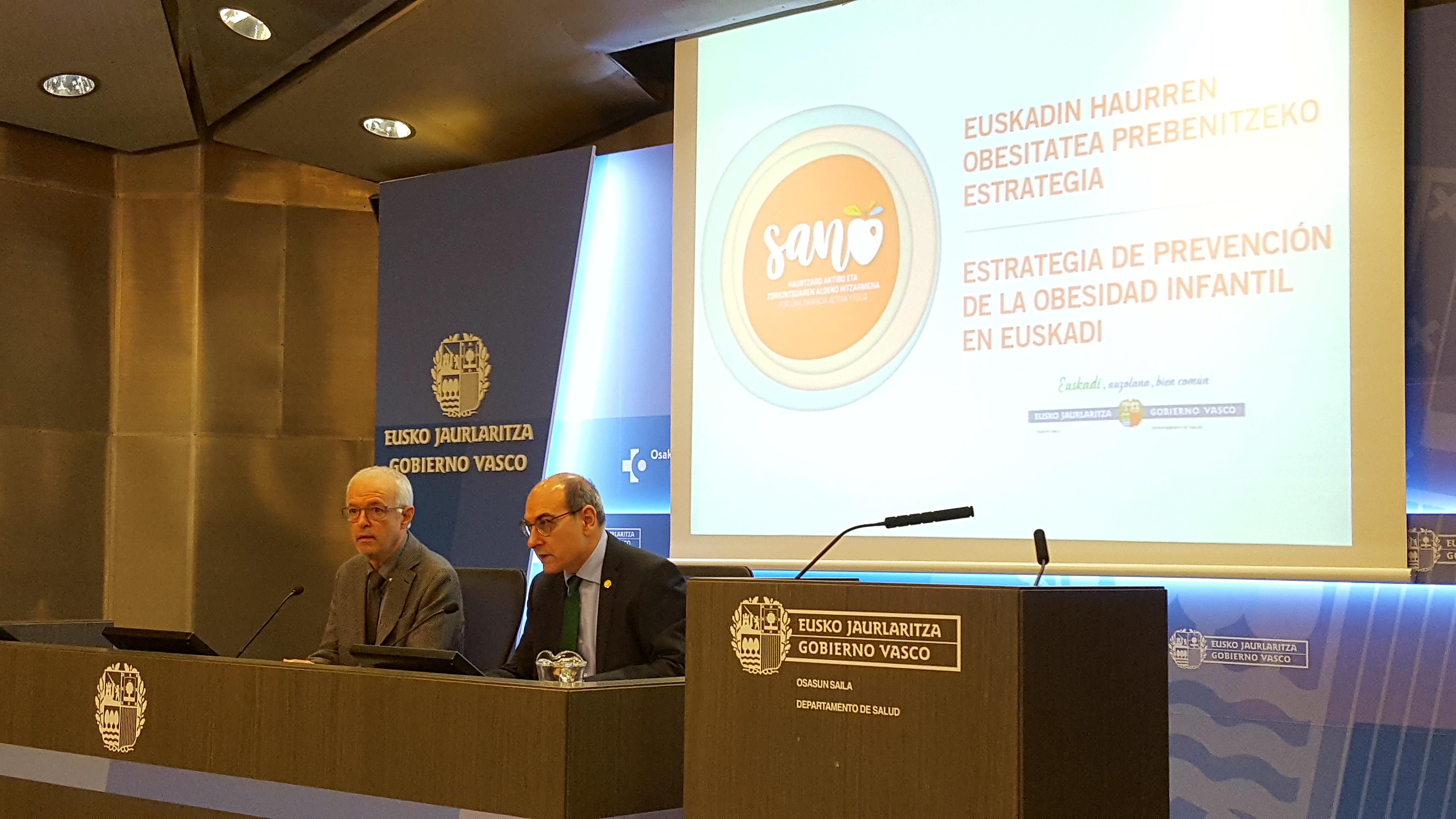 Eusko Jaurlaritzak Euskadin Haurren Obesitatea Prebenitzeko Estrategia aurkeztu du