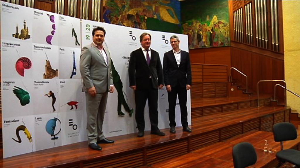 Euskadiko Orkestrak 50 emanaldi baino gehiago eskainiko ditu 2019-2020 denboraldian