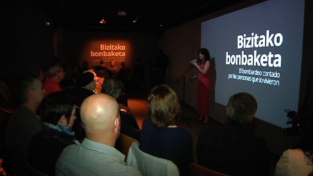 El Museo de la Paz recoge en una exposión los testimonios audiovisuales de testigos del bombardeo de Gernika