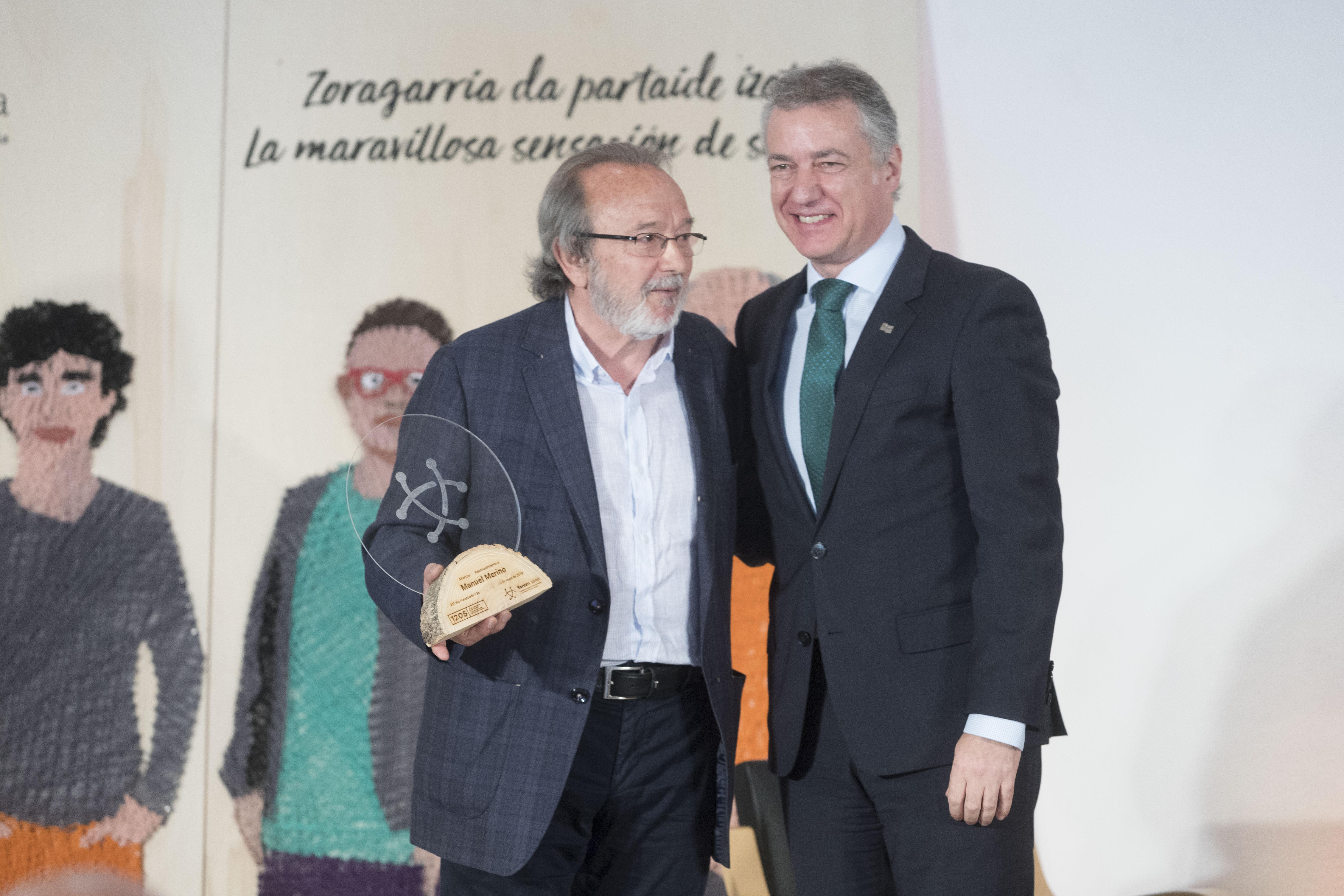 """Iñigo Urkulluk """"Euskadin gizarte-ekintzan kalean bertan lan egiten duten 3.000 euskal erakundek kohesioari, inklusioari eta elkartasunari egiten dioten ekarpena"""" nabarmendu du"""