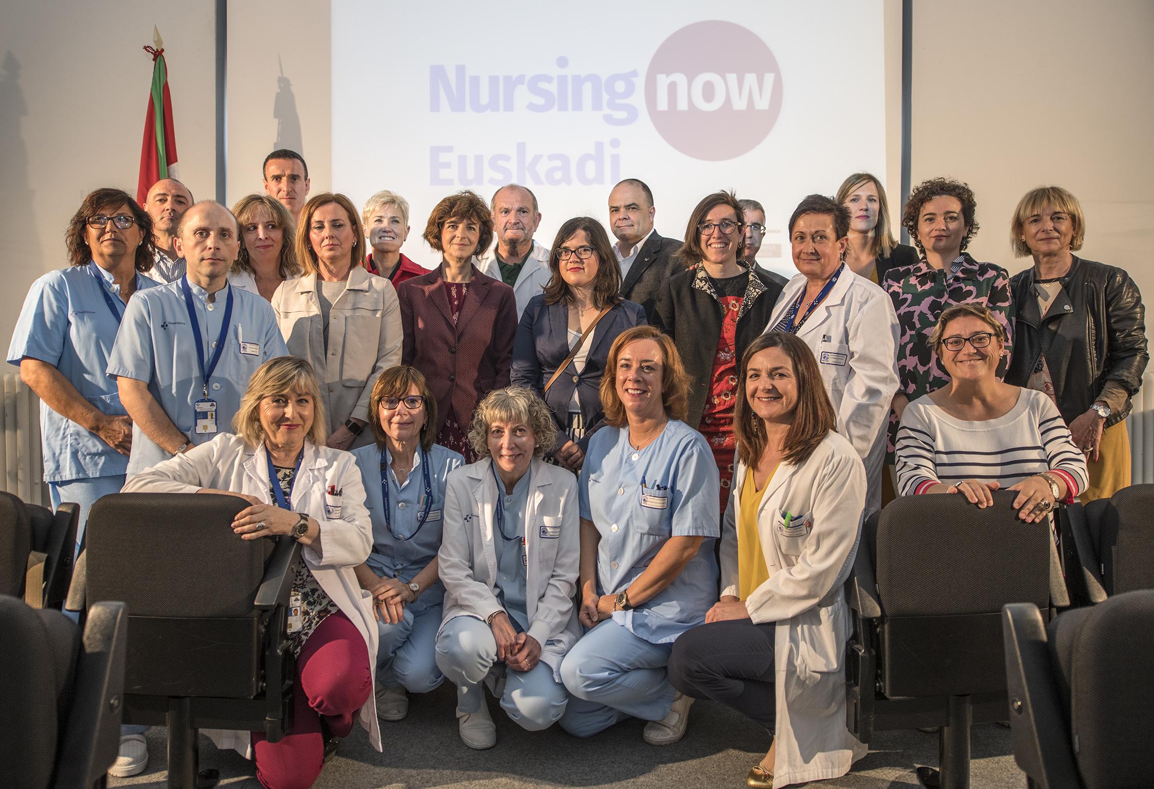 Euskadi erizaintzaren eginkizuna sustatzeko Nursing Now nazioarteko kanpainari atxiki zaio