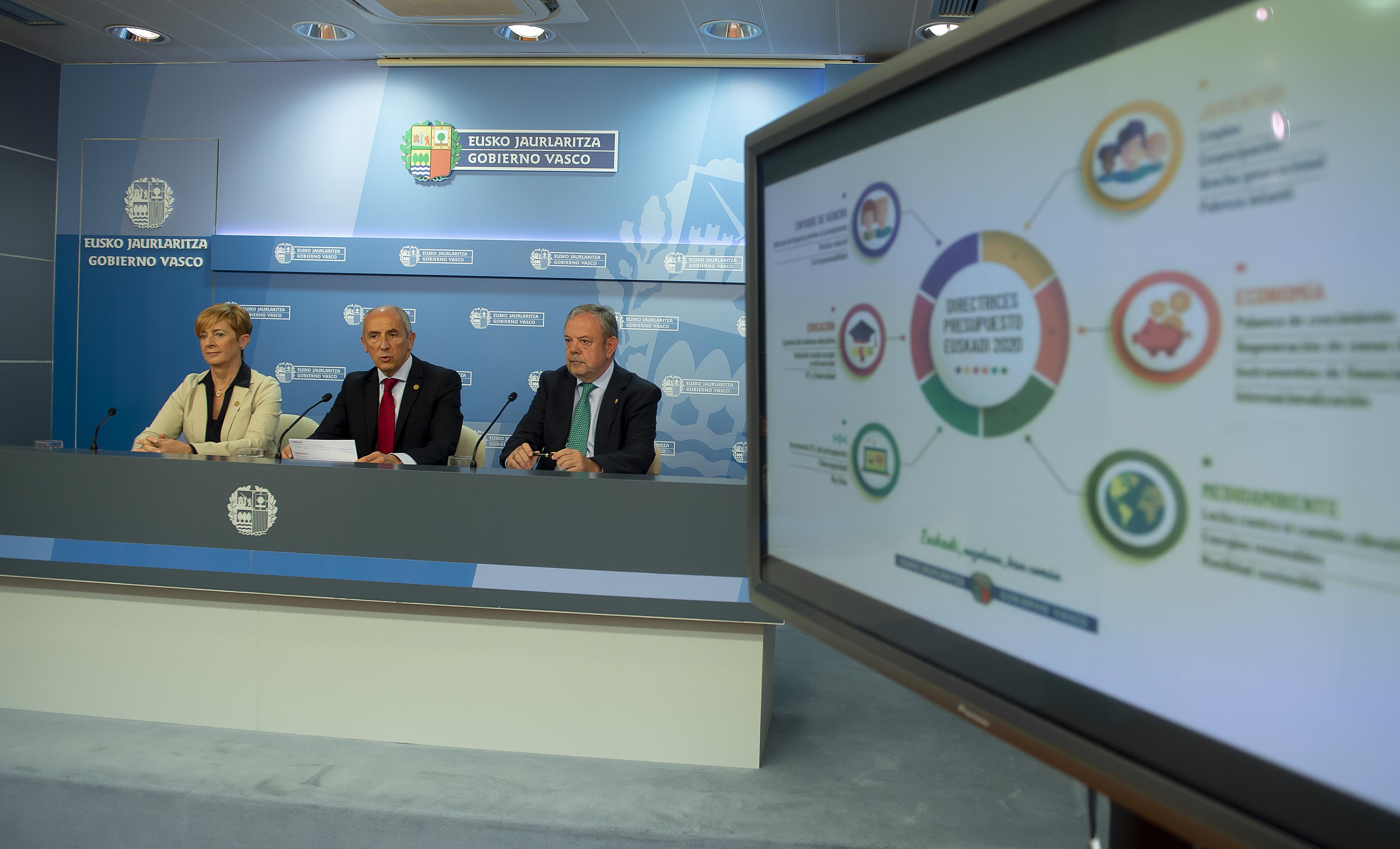 El Gobierno Vasco abrirá cuanto antes una ronda de contactos con los grupos para negociar los Presupuestos 2020