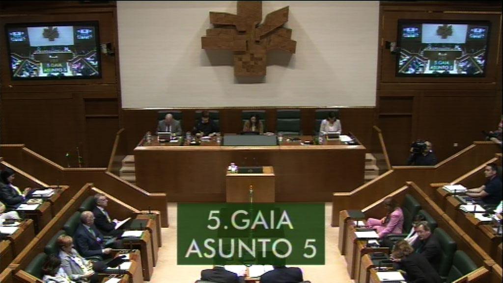 Galdera, Alfonso Alonso Aranegui Euskal Talde Popularreko legebiltzarkideak lehendakariari egina, erreforma fiskalari buruz