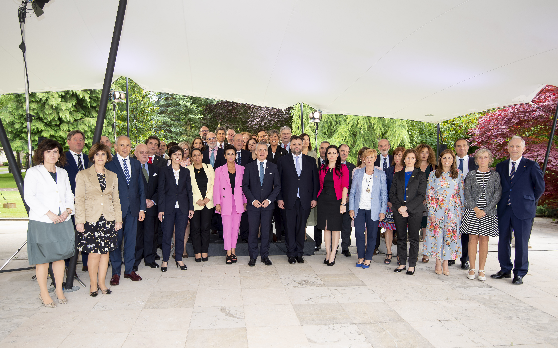 Euskadi nazioartekotzeko konpromiso irmoa azpimarratu du Lehendakariak kidego kontsular akreditatuari egindako harreran