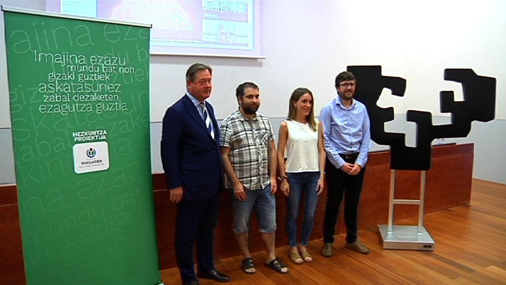 Gracias al acuerdo suscrito entre el Gobierno Vasco y Euskal Wikilarien Kultura Elkartea 2.500 estudiantes han participado en el proceso de impulso a la Wikipedia en Euskera
