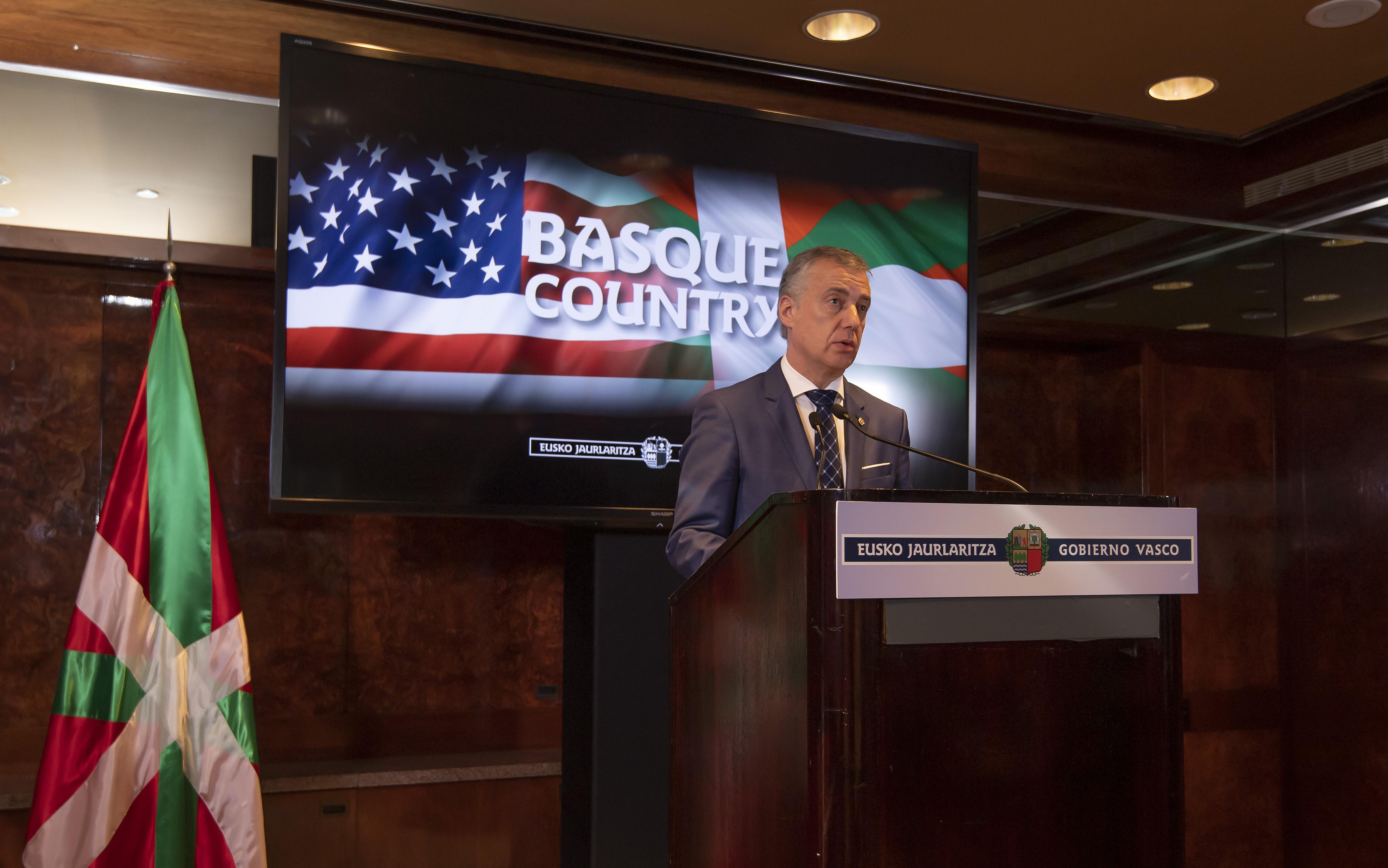 Lehendakariak eskerrak eman dizkio New Yorkeko euskal komunitateari, Euskadi Basque Countryren nazioartekotze-erronkarekin duen konpromisoagatik