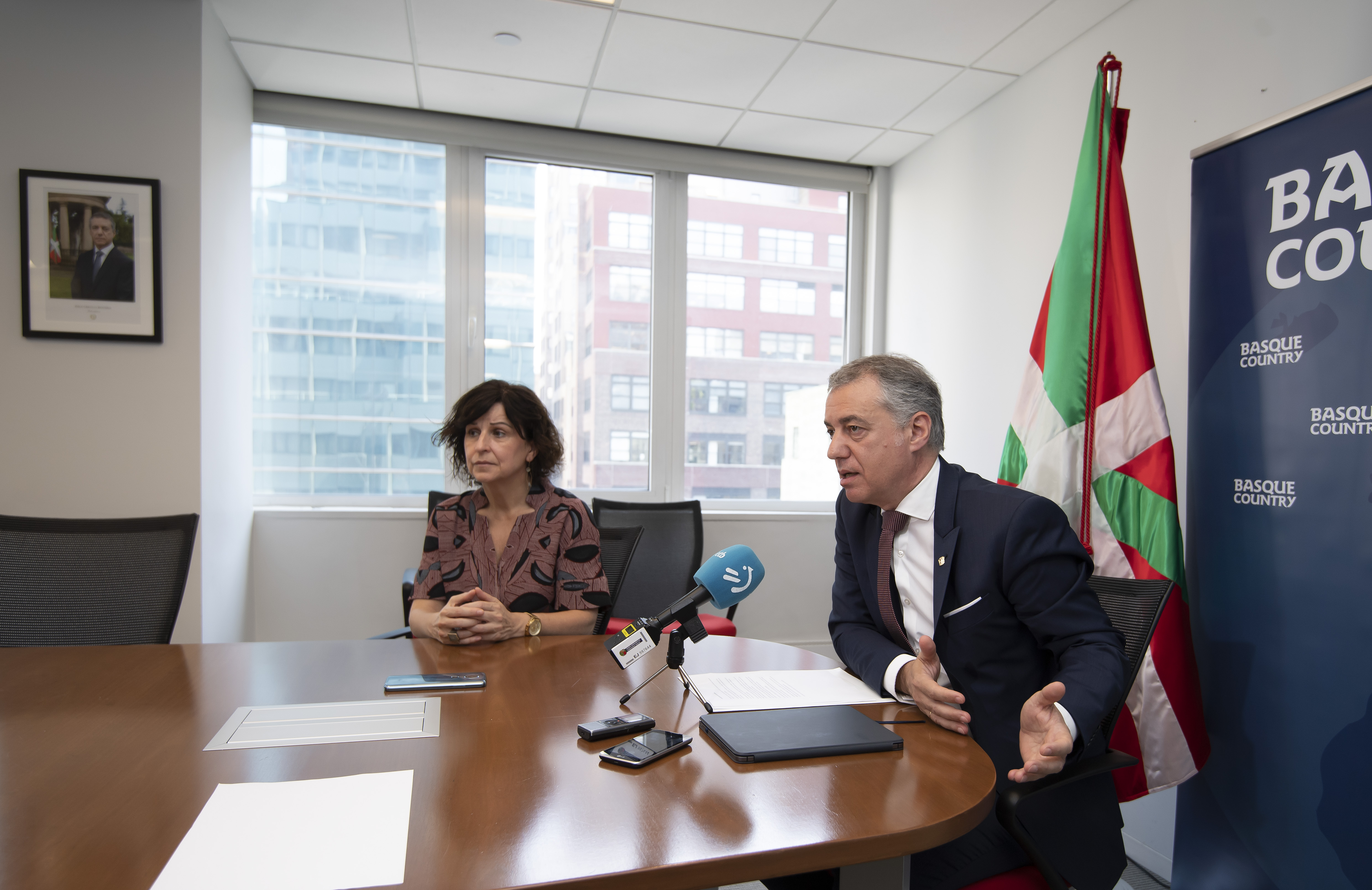 """Lehendakari: """"Euskadi ha sido reconocida por su trabajo y compromiso en las Naciones Unidas"""""""