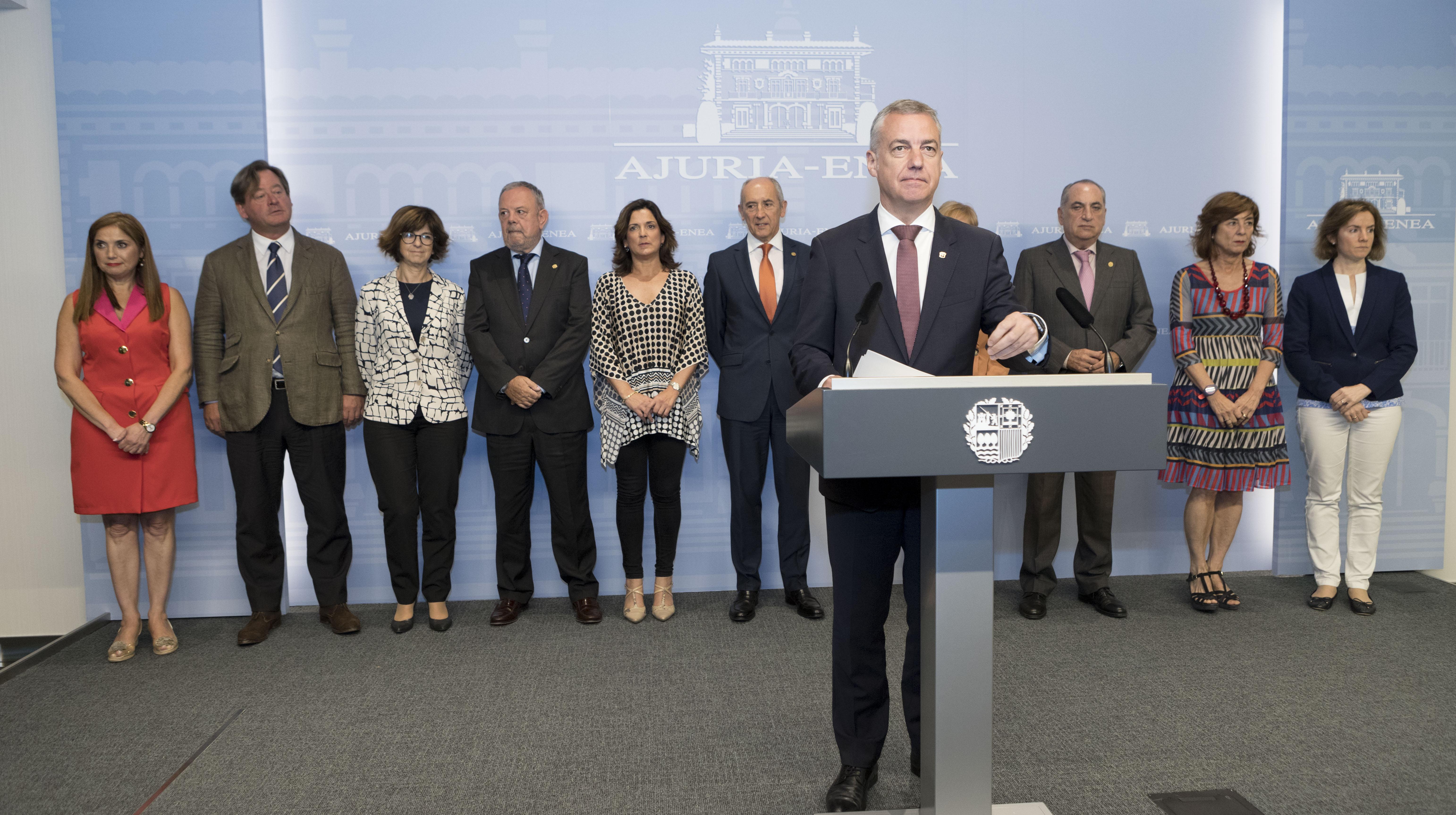 El Lehendakari lee una declaración institucional ante la emergencia del Cambio Climático
