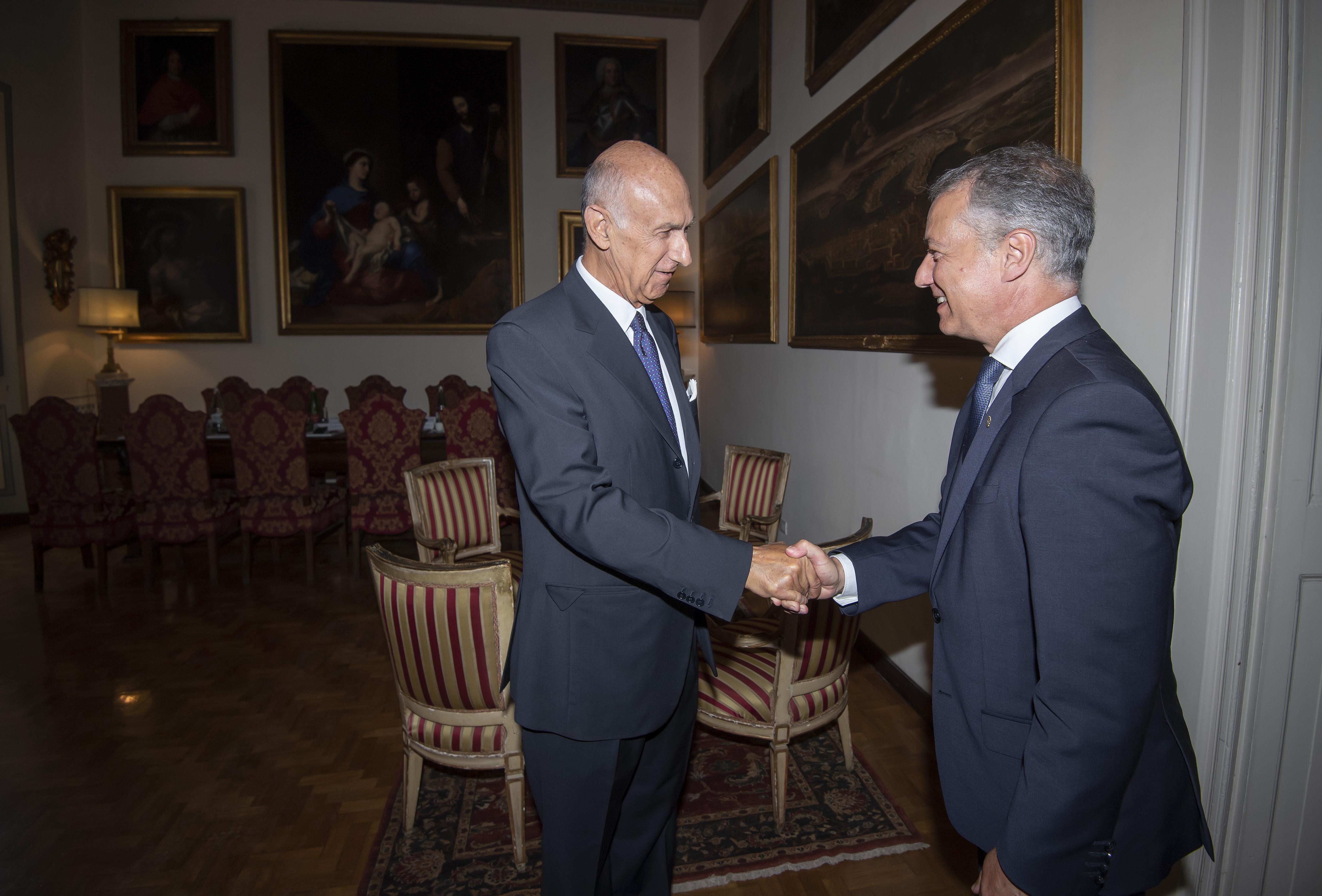 El Lehendakari se reúne con la Orden de Malta